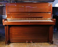 Mahogany Steinway Model K Upright  Piano For Sale