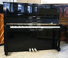 Modern Yamaha U3 Upright Piano For Sale