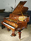 Bechstein Model A Grand Piano  For Sale with a Burr Walnut Case