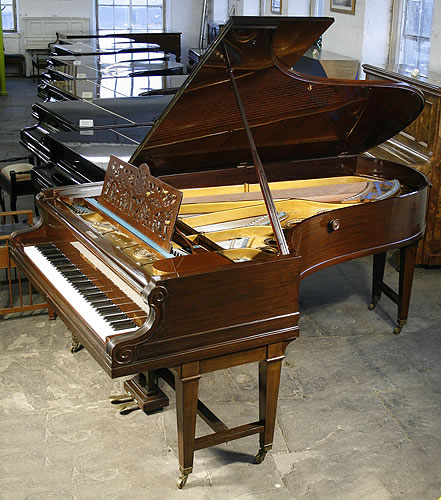Antique bechstein model d grand piano for sale with a for How big is a grand piano