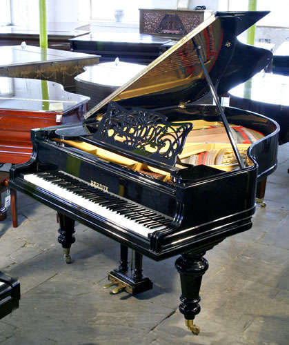 Berdux grand piano for sale with a black case elegant cut for Big grand piano