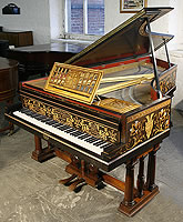 Artcase, Broadwood Grand Piano inlaid with mother of pearl, tortoiseshell and foliate marquetry