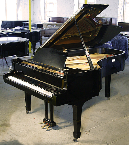 The gallery for yamaha black grand piano for How big is a grand piano