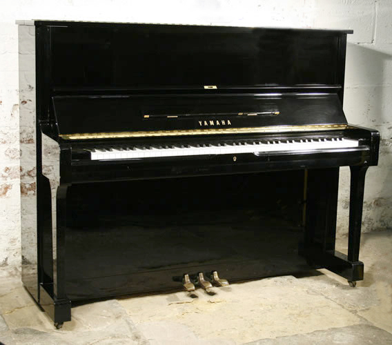 yamaha u1 upright piano for sale with a black case and