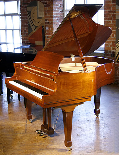 Boston GP163 grand Piano for sale with a walnut case and polyester finish.