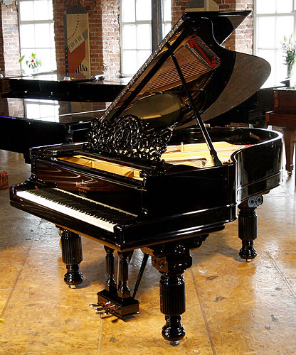 Antique steinway model a grand piano for sale with a for How big is a grand piano
