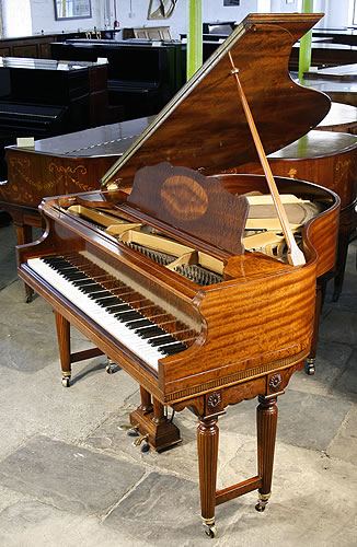 Weber baby grand piano for sale with a fiddleback mahogany for Big grand piano