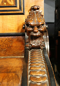 Ehret ornate carvings on piano cheeks