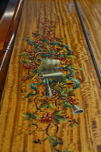 Payne Upright Piano For Sale With A Hand Painted Satinwood