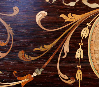 Broadwood inlaid panel detail
