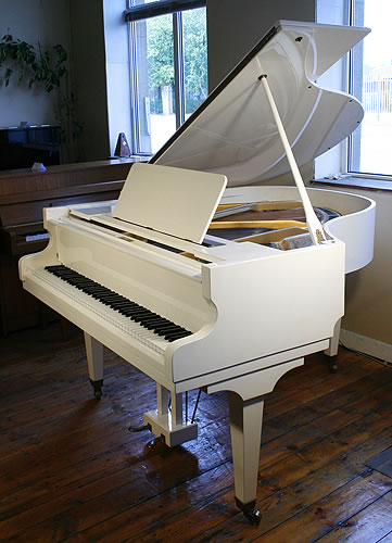 Danemann grand piano for sale with a white case and for How big is a grand piano