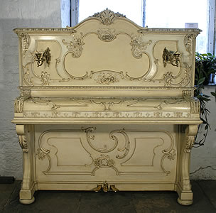 Ibach Upright Piano For Sale with a Rococo Style Case and Gilt Detail