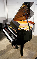 Kawai GM10 Grand Piano For Sale with a black polyester finish