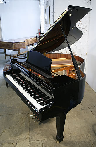 Lippmann GP145 grand Piano for sale with a black case.