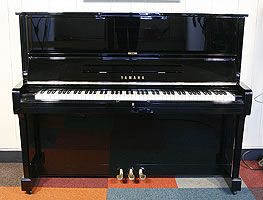 Modern Yamaha U1 Upright Piano For Sale