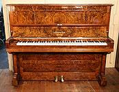 Rebuilt, Burr walnut, Bechstein  upright piano For Sale
