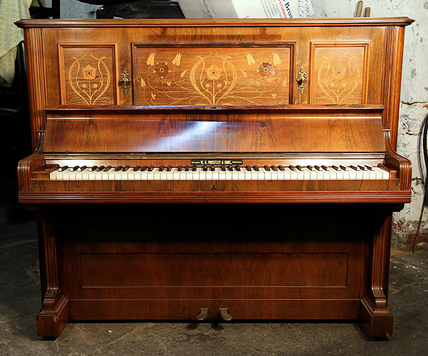 Bechstein Upright Piano For Sale With A Rosewood Case And