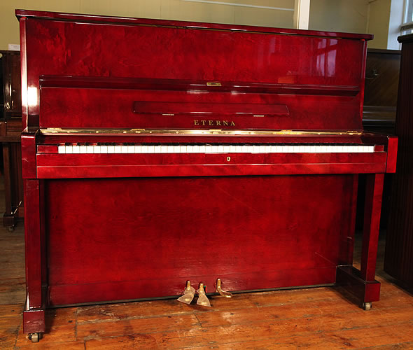 Eterna Upright Piano For Sale With A Mahogany Case Modern