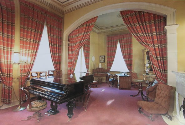 Liszt's Bechstein concert grand piano still housed at his appartment in Weimar, Germany