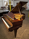 A Bechstein Model L grand piano with a polished, mahogany case. 