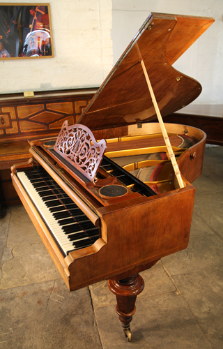 Bosendorfer Grand Piano For Sale With A Walnut Case And Satinwood Stringing Inlay Antique Bosendorfer Piano Specialist Steinway Piano Dealer