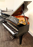 Kawai GE 20 baby grand piano for sale with a black case and polyester finish