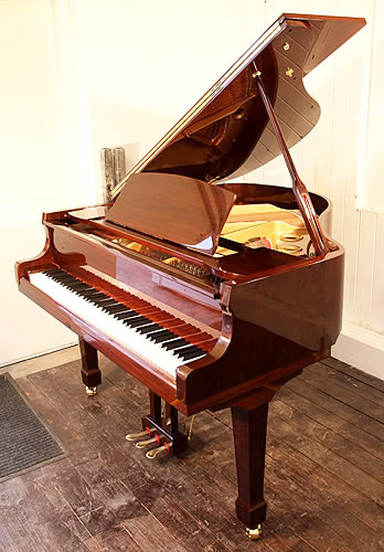 Steinhoven Model 148 baby grand Piano for sale with a black case.