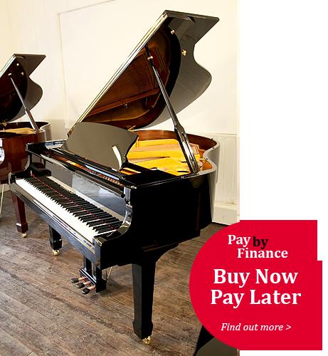 Steinhoven Model 160  grand Piano for sale with a black case.