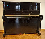 A Steinway Model K Upright  Piano For Sale with a Black Case