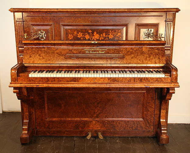 Antique, Glass upright Piano for sale.