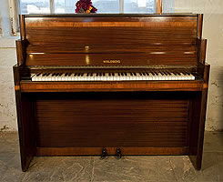 Artcased,  Waldberg upright  piano with a mahogany case