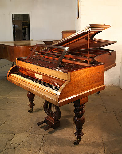 William stodart grand piano for sale with a rosewood case for Big grand piano