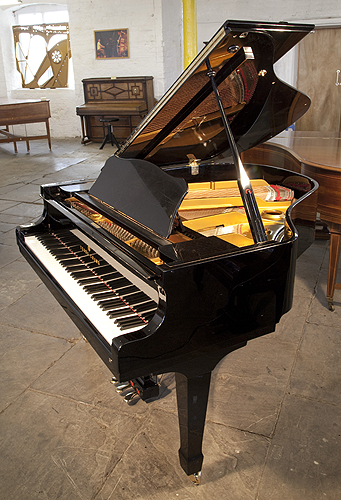 Young Chang G157 baby grand Piano for sale with a black case and polyester finish.