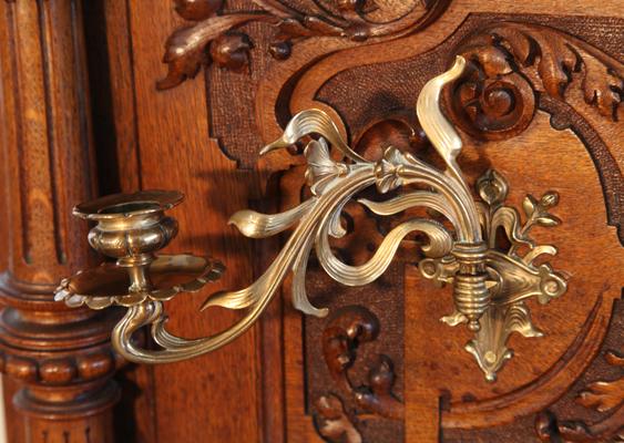 Bohme brass candlestick detail