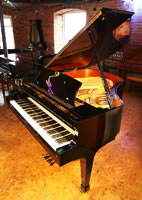 Boston GP163 grand piano for sale with a black case