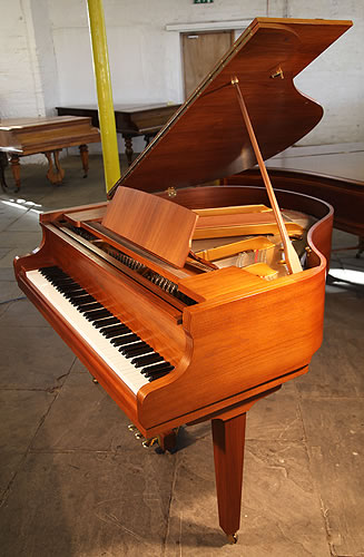 Cranes sg 140a baby grand piano for sale with a walnut for How big is a grand piano