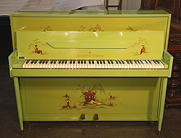 Artcased,  Monington and Weston upright  piano with a painted case