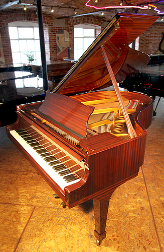 A 1978, Steinway & Sons Model O Grand Piano with a Mahogany Case and Polyester Finish