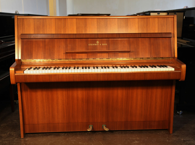 Steinway Model Z upright Piano for sale with a mahogany case.
