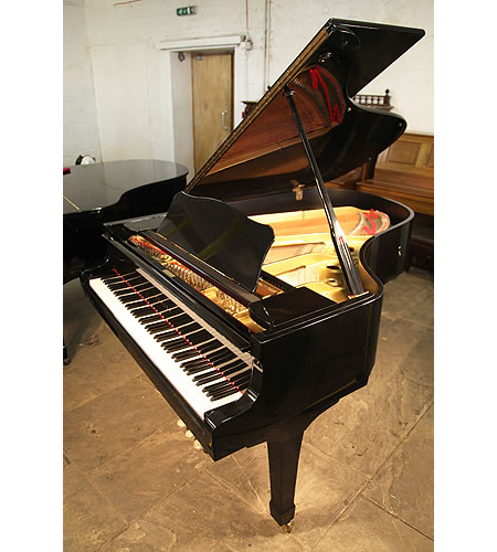 A 1978, Yamaha G3 grand piano for sale with a black case and spade legs
