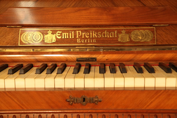 Emil Preikschat Upright Piano for sale.