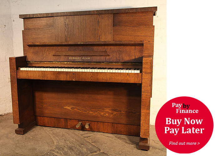 Gerhard Adams upright Piano for sale.