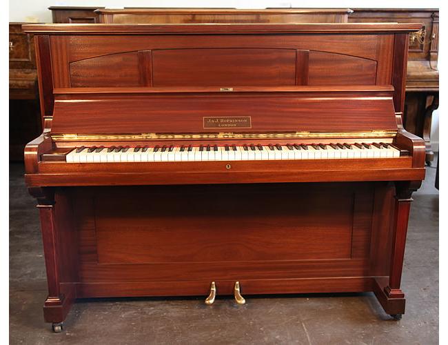 A 1925, Hopkinson upright piano with a mahogany case