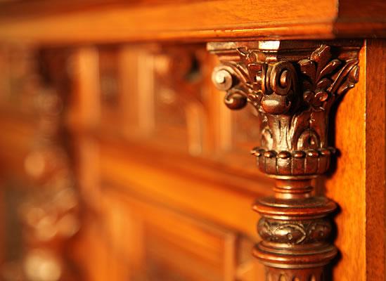 Oscar Gerbstadt piano corinthian pilaster detail