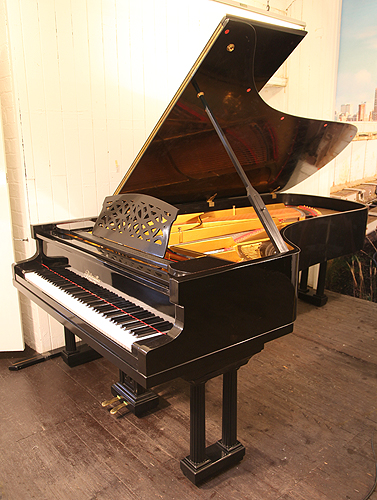Ritmuller concert grand piano for sale with a black case for How big is a grand piano