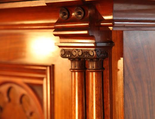 Schmidt carved pilaster