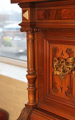 Steingraeber & Sohne carved pilaster