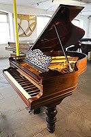 An 1896, Steinway Model A Grand Piano For Sale with a Rosewood Case and Bulbous, Turned  Legs