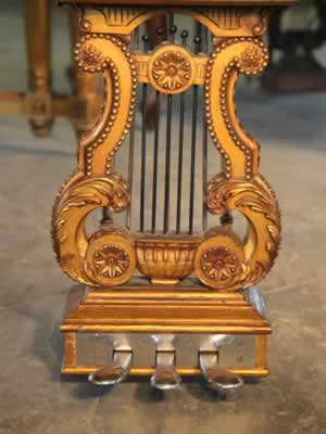 Steinway Model B ornately carved,  piano  lyre with  footplate
