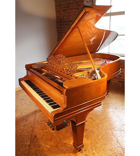 An art case, Steinway Model B grand piano with a satinwood case with boxwood stringing detail